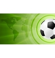 Green anstract soccer sport background with ball vector image