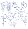 insects doodles vector image