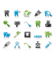 dental medicine and tools icons vector image