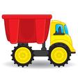 Dump truck toy vector image