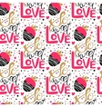 So sweet love seamless pattern vector image