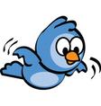 Flying bluebird vector image