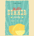 hello summer poster summer background effects vector image