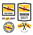 brunei quality label set for goods vector image