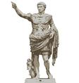 Statue of Augustus vector image