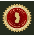 Star label New Jersey vector image