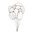 Bunch of air balloons vector image vector image