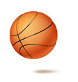 3d basketball ball classic orange ball vector image