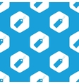 String tag hexagon pattern vector image vector image