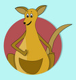 cartoon happy kangaroo icon flat color vector image