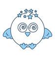 cute bird expression comic vector image