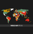 high detail geopolititcal world map vector image