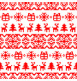 knitted christmas seamless pattern new vector image