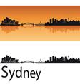 Sydney skyline in orange background vector image