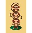 three wise monkeys cartoon vector image