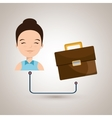 woman with briefcase isolated icon design vector image
