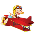 Monkey flying aircraft vector image