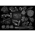 hand drawn pasta menu Vintage chalkborad vector image vector image