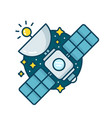 space satellite communication dish radio vector image