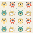 pets pattern vector image