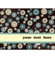 retro banner with blue flowers vector image