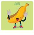 Yellow Banana Character Isolated vector image