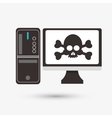 Security system design Technology icon Isolated vector image