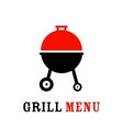 The grill icon vector image