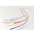 Abstract colorful bright streaming swoosh lines vector image