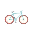Bicycle isolated flat cartoon vector image