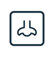 nose icon Rounded squares button vector image