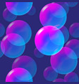 rainbow pink and blue bubbles with light vector image