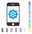 smartphone options gear icon vector image