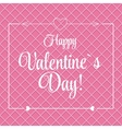 St Valentine Day Greeting Card in Retro vector image