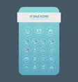 web line sale icons set vector image