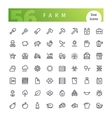 Farm Line Icons Set vector image