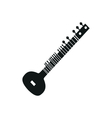acoustic sitar vector image