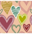 Colorful seamless heart pattern vector image vector image