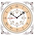 elegant roman numeral clock vector image vector image