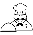 Chef cartoon icon vector image vector image