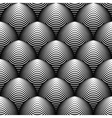 Design seamless monochrome cone background vector image