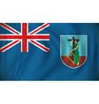 Flag of Montserrat vector image