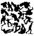 skateboarders vector image vector image