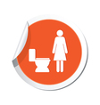 Map pointer with restroom icons lady vector image