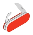 Camping knife isometric 3d icon vector image