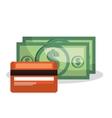credit card bill money dollar isolated vector image