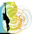 Drawing of man playing tennis vector image