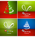 Four Abstract Christmas Background Sets vector image