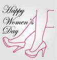 Graphic for womens day vector image