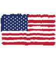 pixelated flag of the united states of america vector image